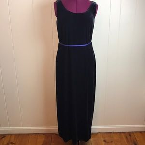 Vintage 80s/90s Velvety Sexy Long Formal Gown